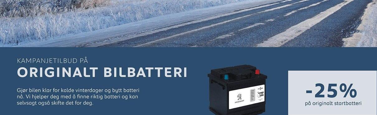 Batteri til din Peugeot