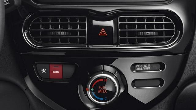 Klimaanlegget i en Peugeot iOn gir svale briser til varme sommerturer