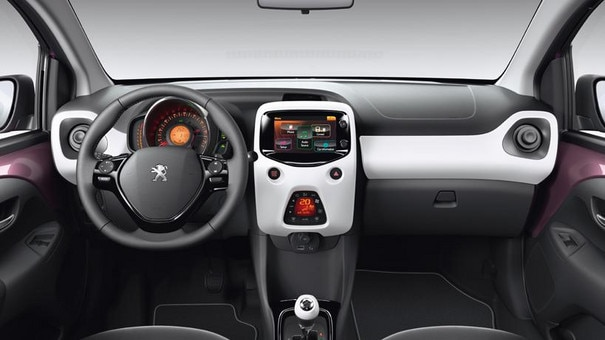 Interiørdesignet i Peugeot 108