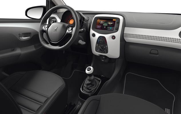 Kupeen i bybilen Peugeot 108