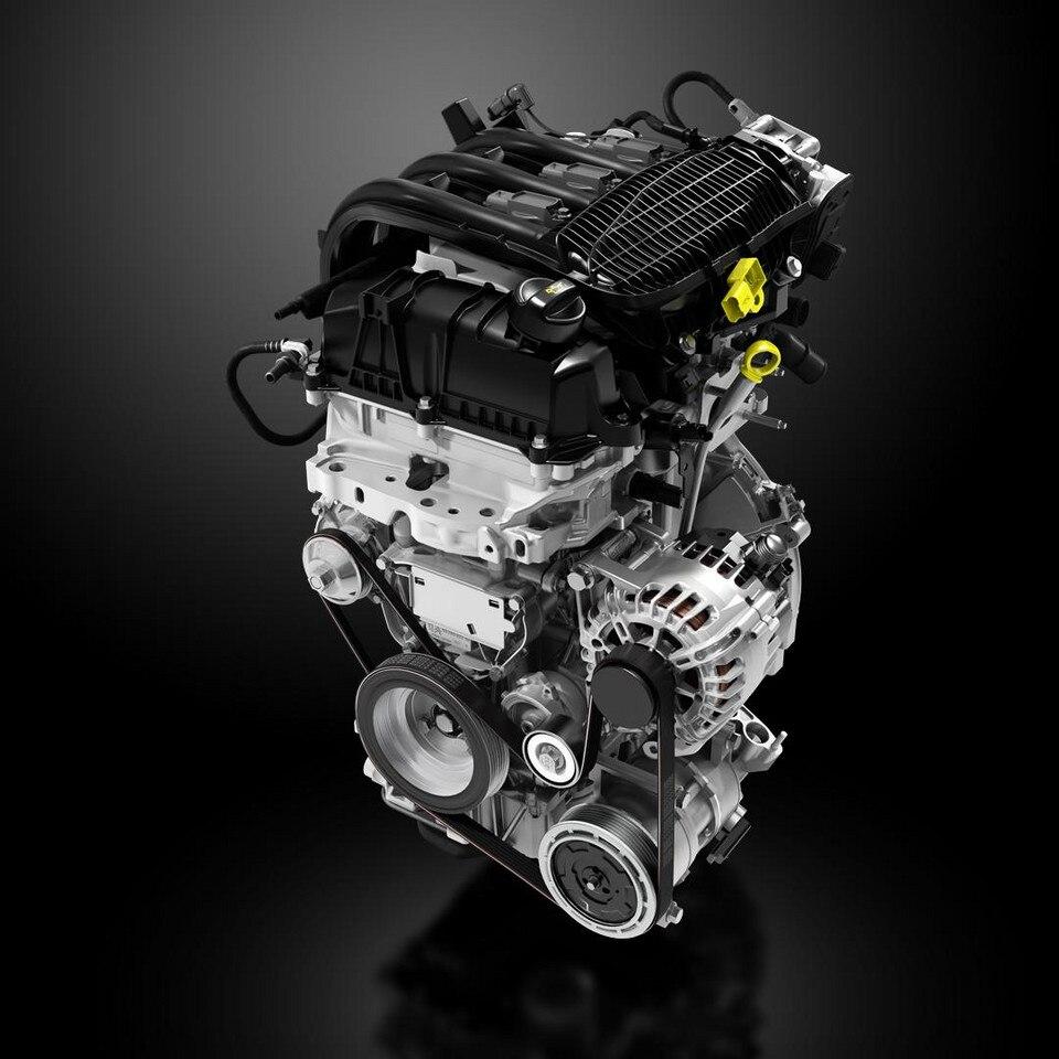 CGI-illustrasjon av Peugeot motorteknologi