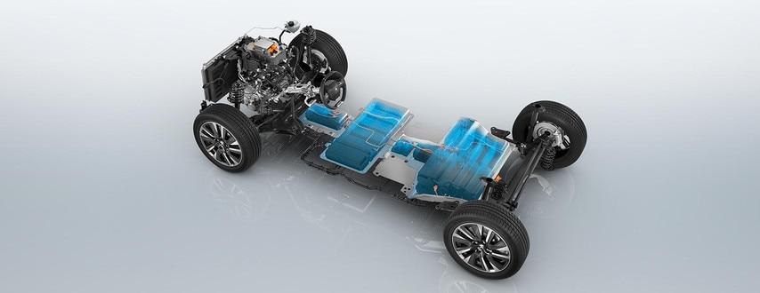 Ходовая часть, батареи и мотор Peugeout E-2008